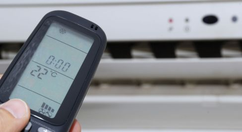 Remote to a home air conditioning system in Collie